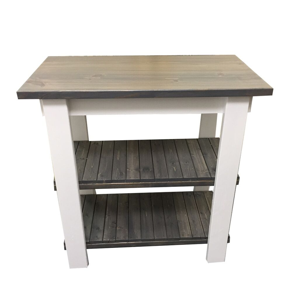 Cottage Kitchen Island Work Space Kitchen Storage Bakers Table Work Statio Ebay