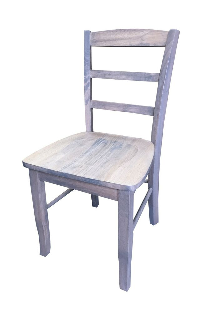 Solid Wood Unfinished Kitchen Chairs