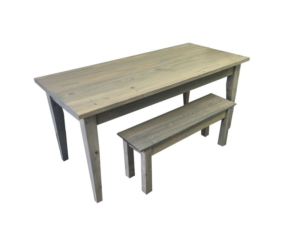 Grey Farmhouse Table with Tapered Legs Rustic Harvest Farmhouse Kitchen Dinn