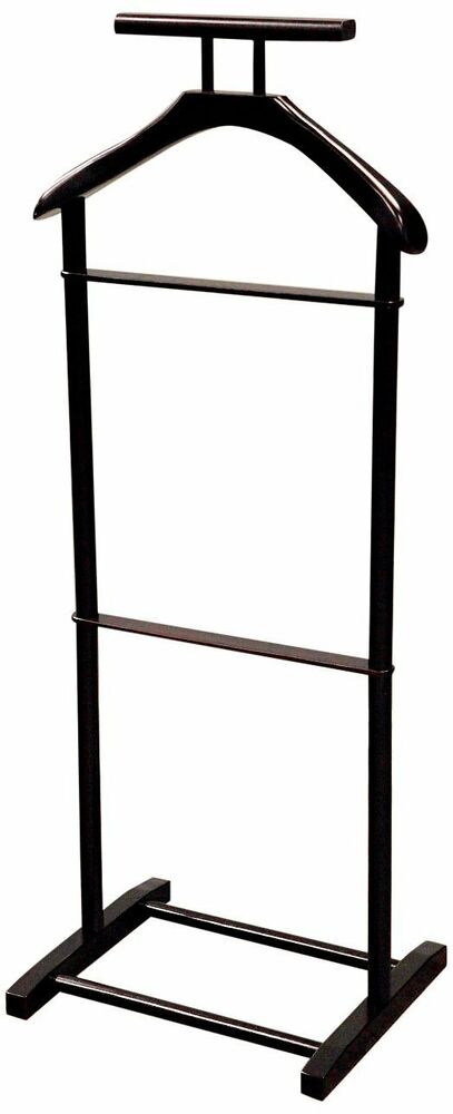 Men s valet stand suit rack coats clothes wooden hanger