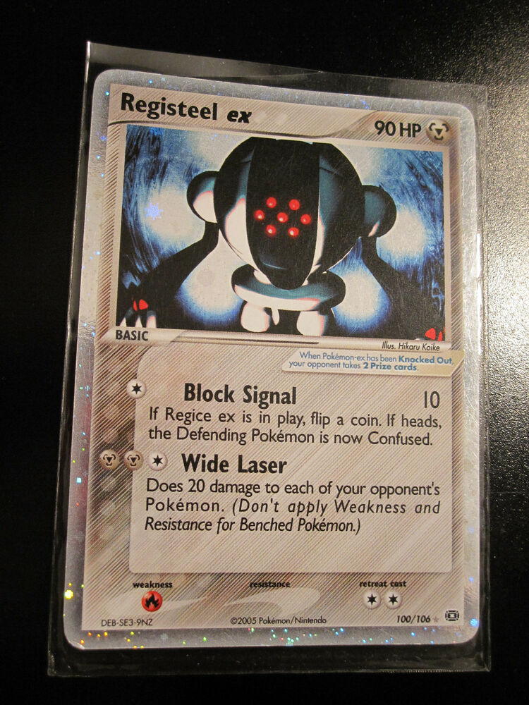 Registeel Pokemon Card EX Pokemon REGISTEEL E...