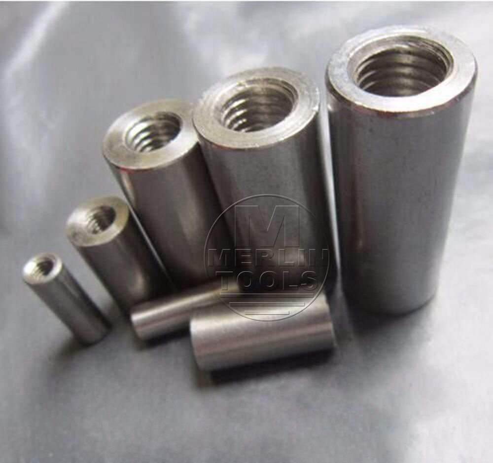 Threaded Bar Couplers : Select size m round fine threaded rod coupling nuts