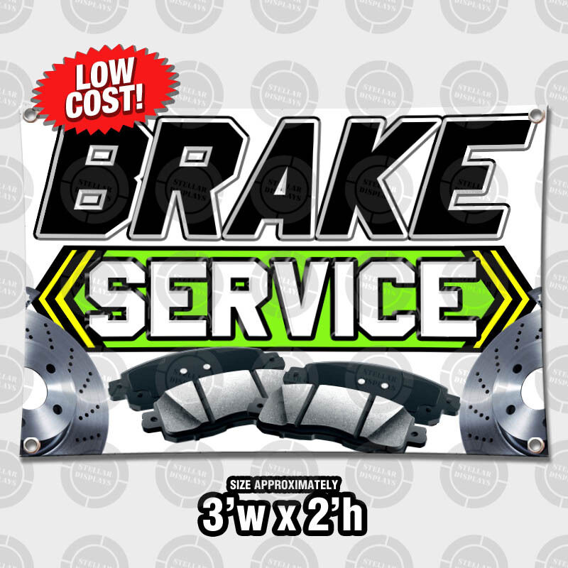 Car Brake Repair Service: 2' X 3' Brake Service Auto Repair Outdoor Indoor Wall