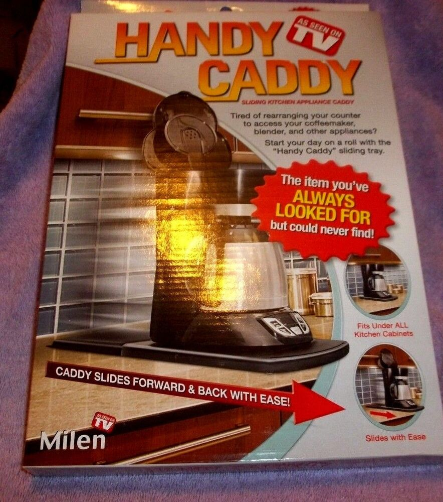 Uncategorized Handy Caddy Kitchen Appliance Tray handy caddy sliding under cabinet appliance moving tray storage ebay