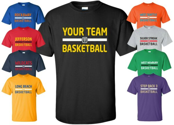 Custom Basketball Jersey T-Shirt with YOUR TEAM NAME Size S-4XL practice league