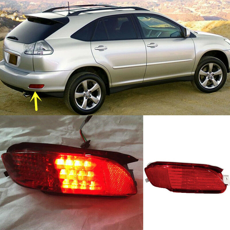 Lexus Rx 450h 2009 >> For Lexus RX330 RX350 RX400h Red Lens Rear Bumper Reflector Rear LED Fog Light | eBay