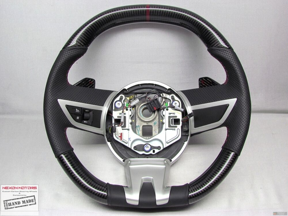 Chevy Camaro Ss 5th Gen Jewel Red Perforated Flat Bottom Carbon Steering Wheel Ebay