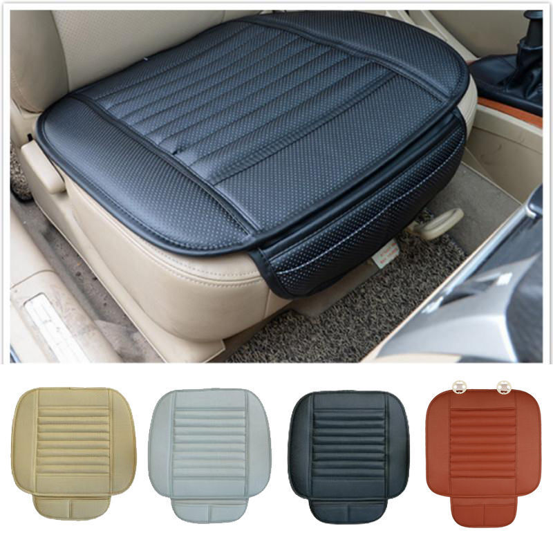 Breathable Pu Leather Bamboo Car Seat Cover Pad Mat For