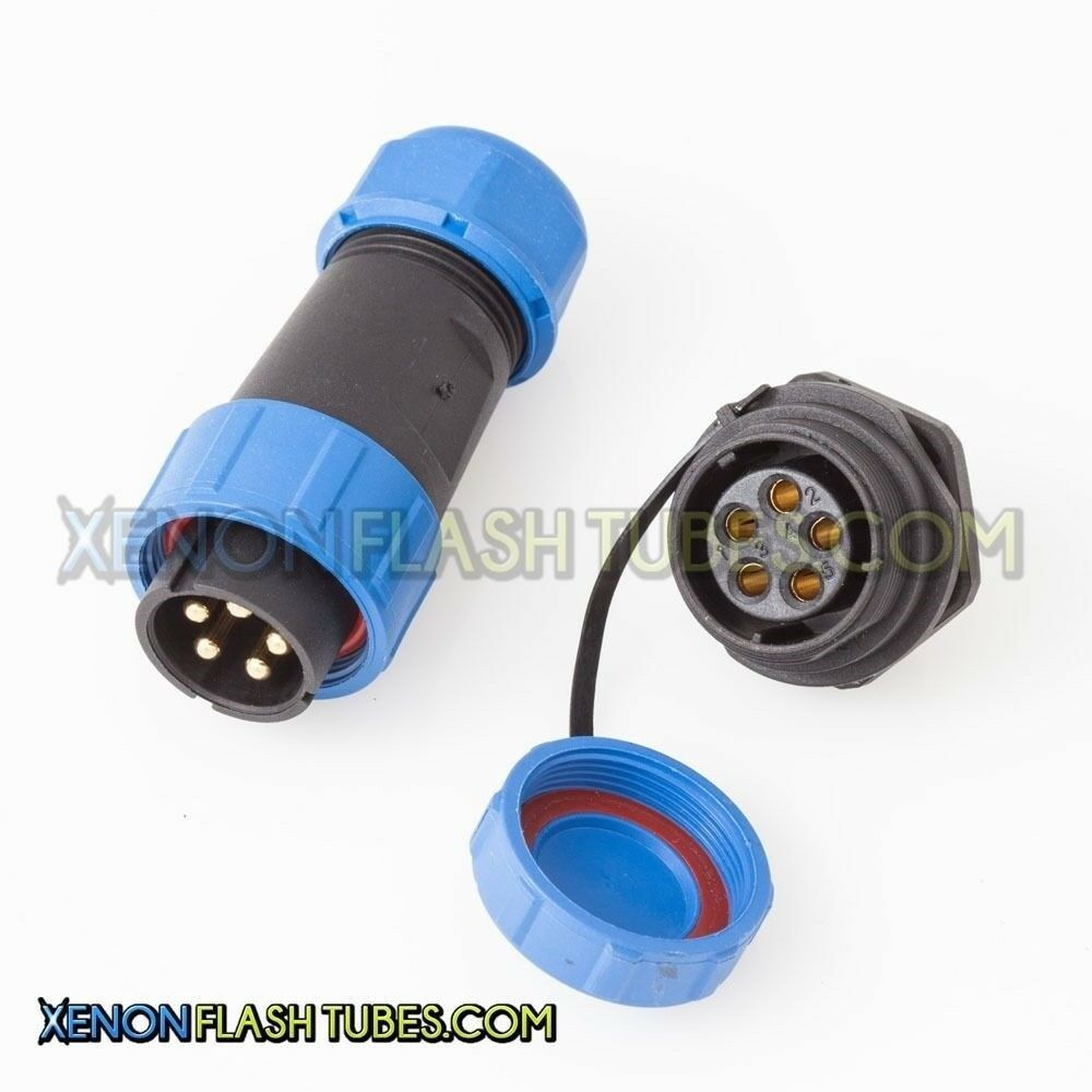 5-Pin FLASH Connector 600v 30A Panel Female Socket Cable ...