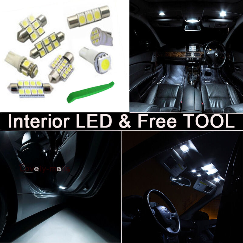White Led Lights Interior Package Kit Bulbs For 2005 2016 Ford F 350 Tool Z1 Ebay
