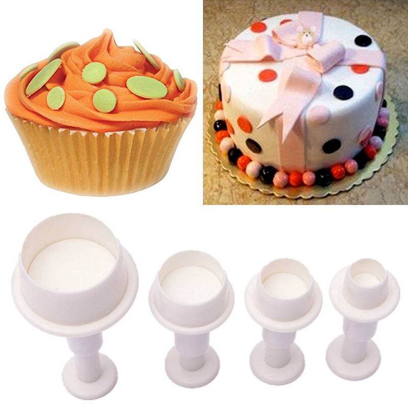 4x Mini Round Circle Cookie Cake Cutter Mold Biscuit ...