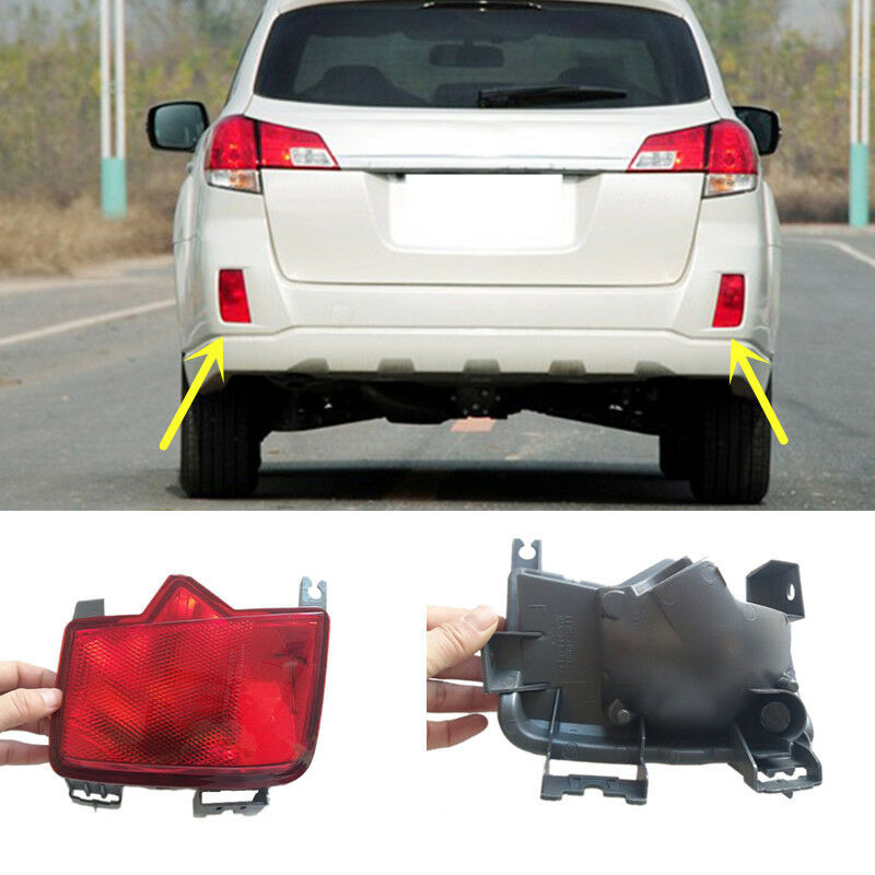 For Subaru Outback 2010 2014 Red Rear Bumper Reflector Tail Brake Fog Lights Ebay