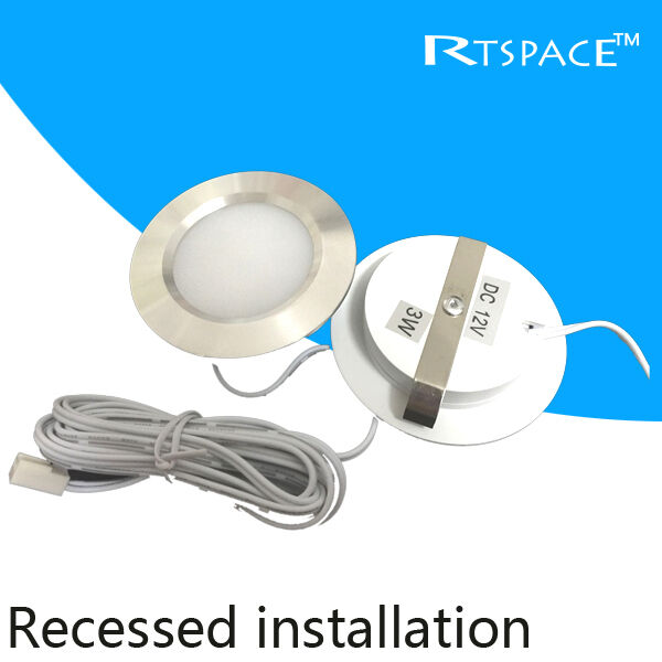 Recessed Installation Dc 12v 1pcs 3w Led Puck Cabinet