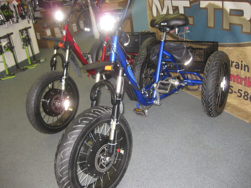 electric mountain trike 3 speed fat tire bike tricycle. Black Bedroom Furniture Sets. Home Design Ideas
