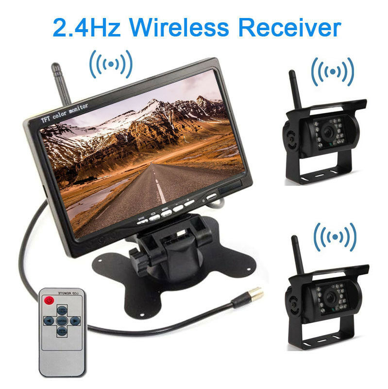 7 Quot Car Rear View Monitor 2 Wireless Rearview Backup Camera