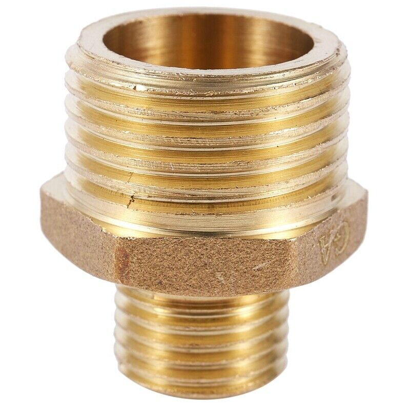 brass equal nipple male union adapter 1 2 to 1 4 for pneumatic air pipe ad ebay. Black Bedroom Furniture Sets. Home Design Ideas