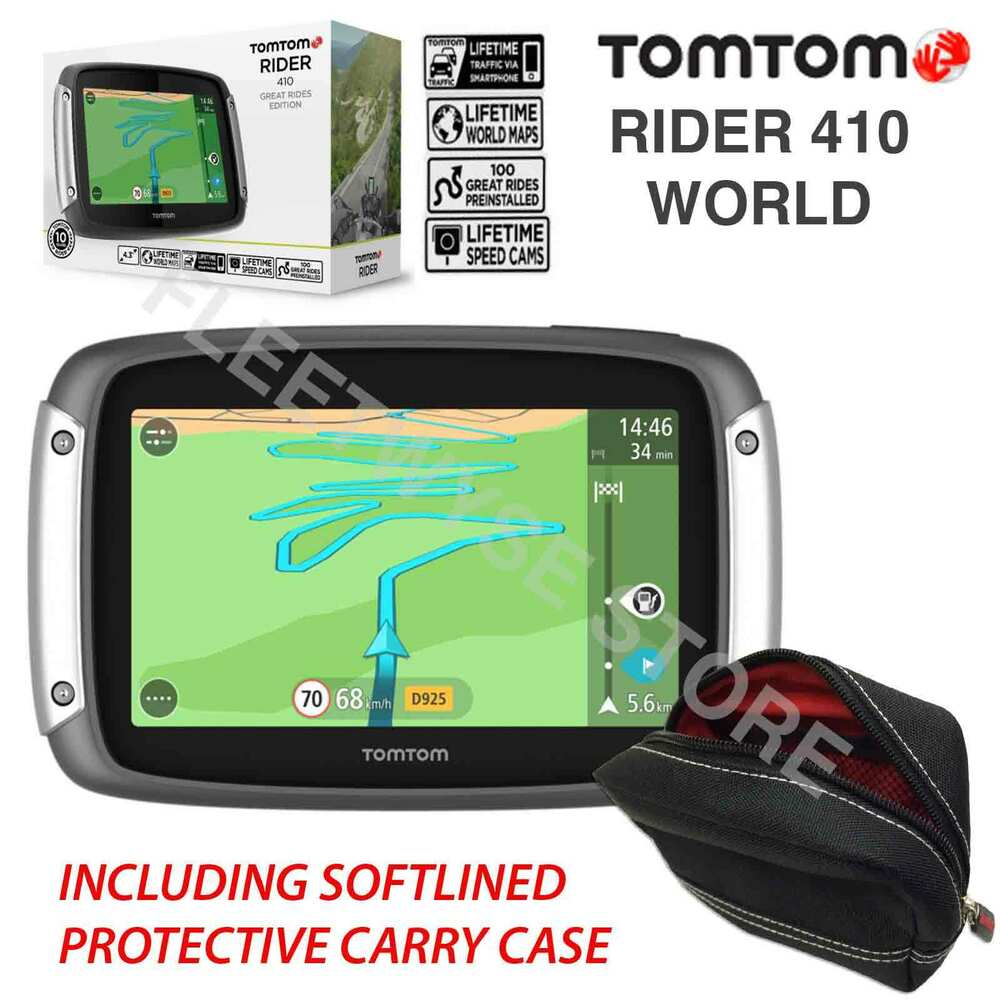 tomtom rider 410 world great rides gps motorcycle sat nav. Black Bedroom Furniture Sets. Home Design Ideas