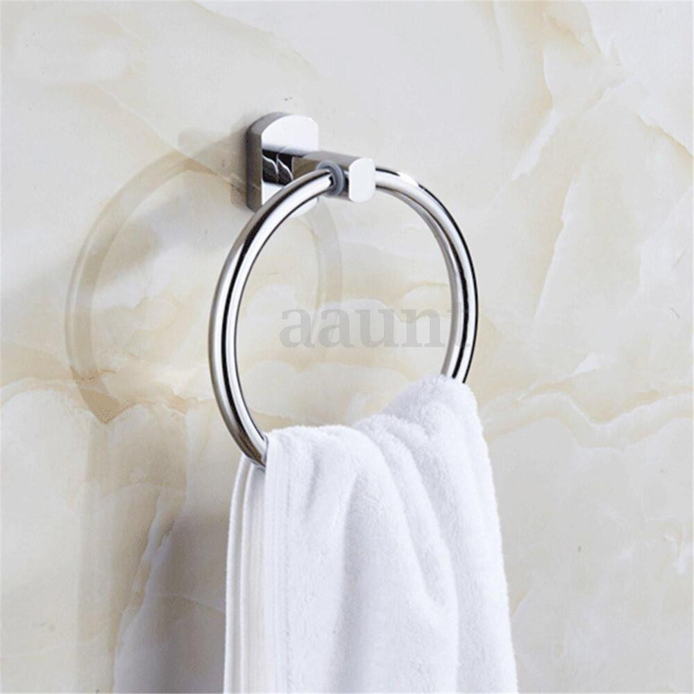 Sliver wall mounted towel ring hand towel rack holder - Bathroom towel holders accessories ...