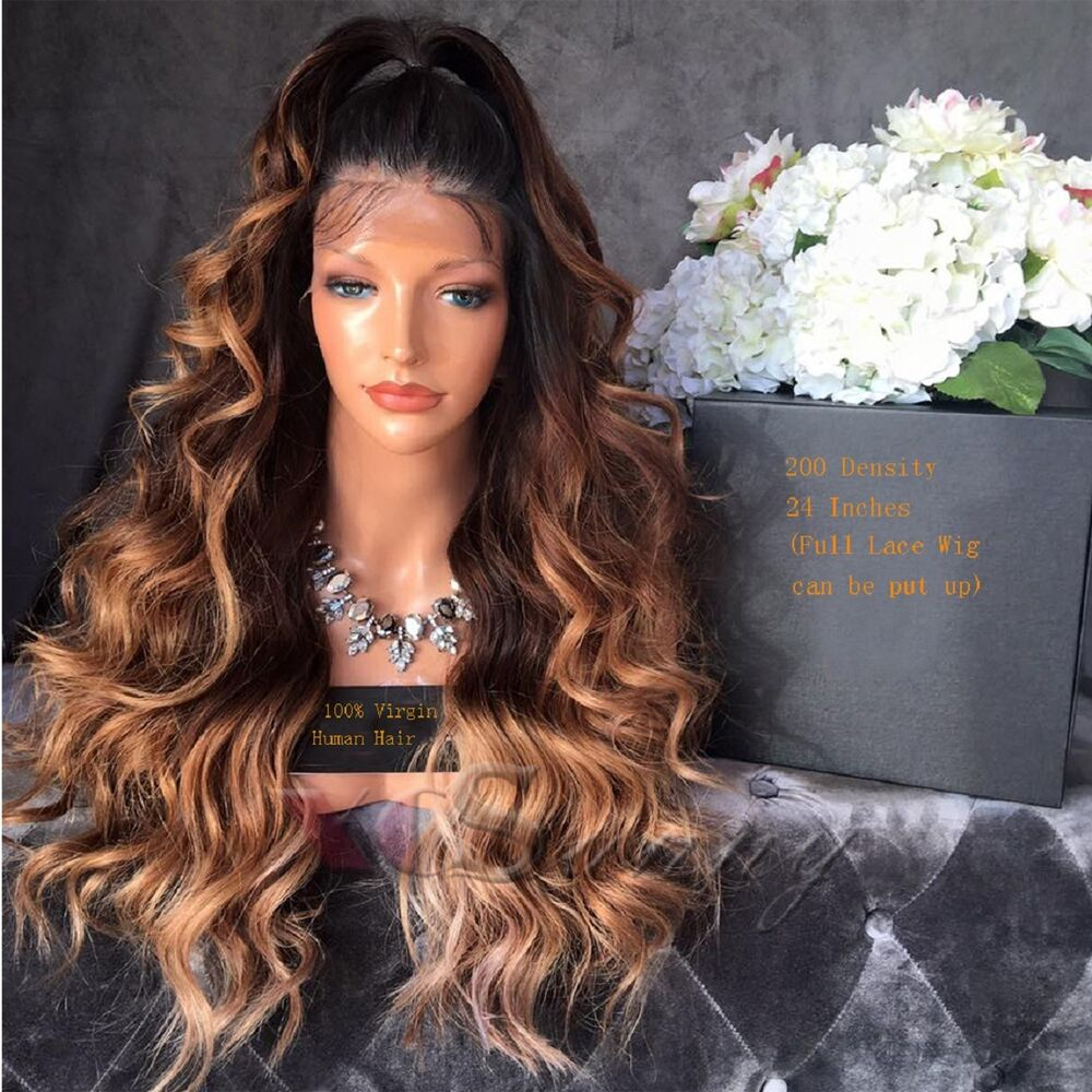 Ombre Full Lace Wigs 3 Tone Ombre Lace Front Wigs