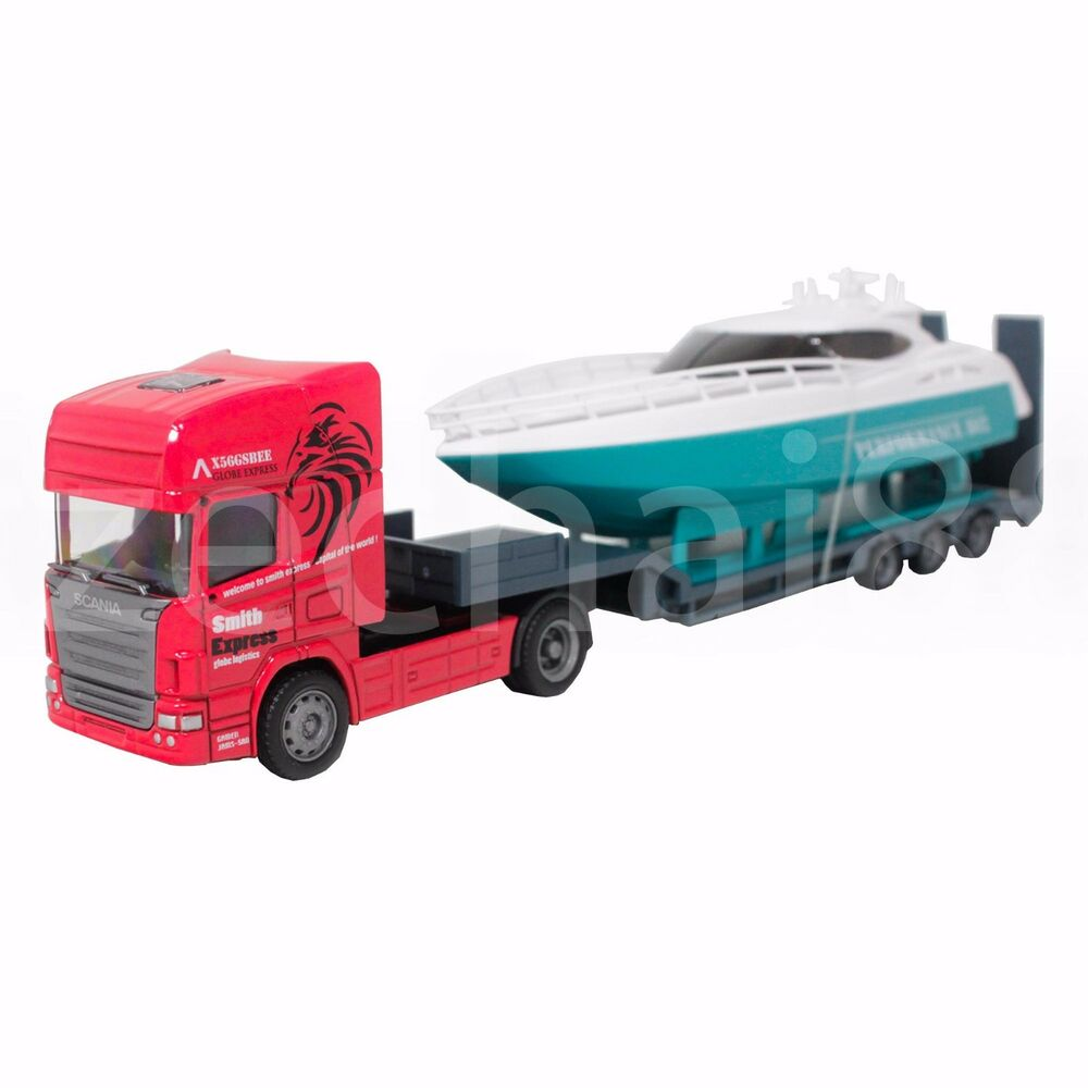 Diecast Truck And Travel Trailer