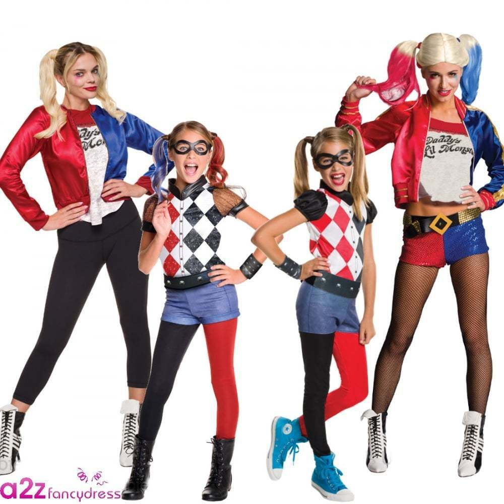 SUICIDE SQUAD LADIES GIRLS KIDS ADULT HARLEY QUINN