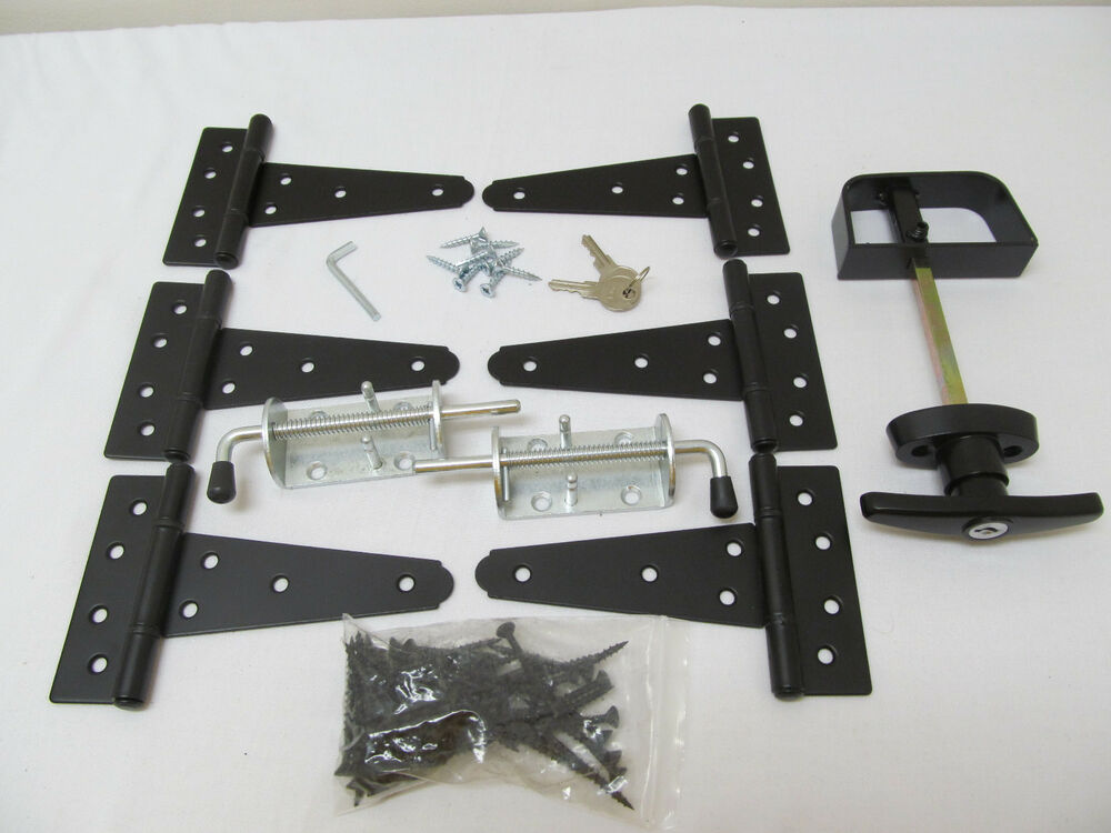 Heavy Duty Hardware : New heavy duty shed double door hardware kit quot hinges