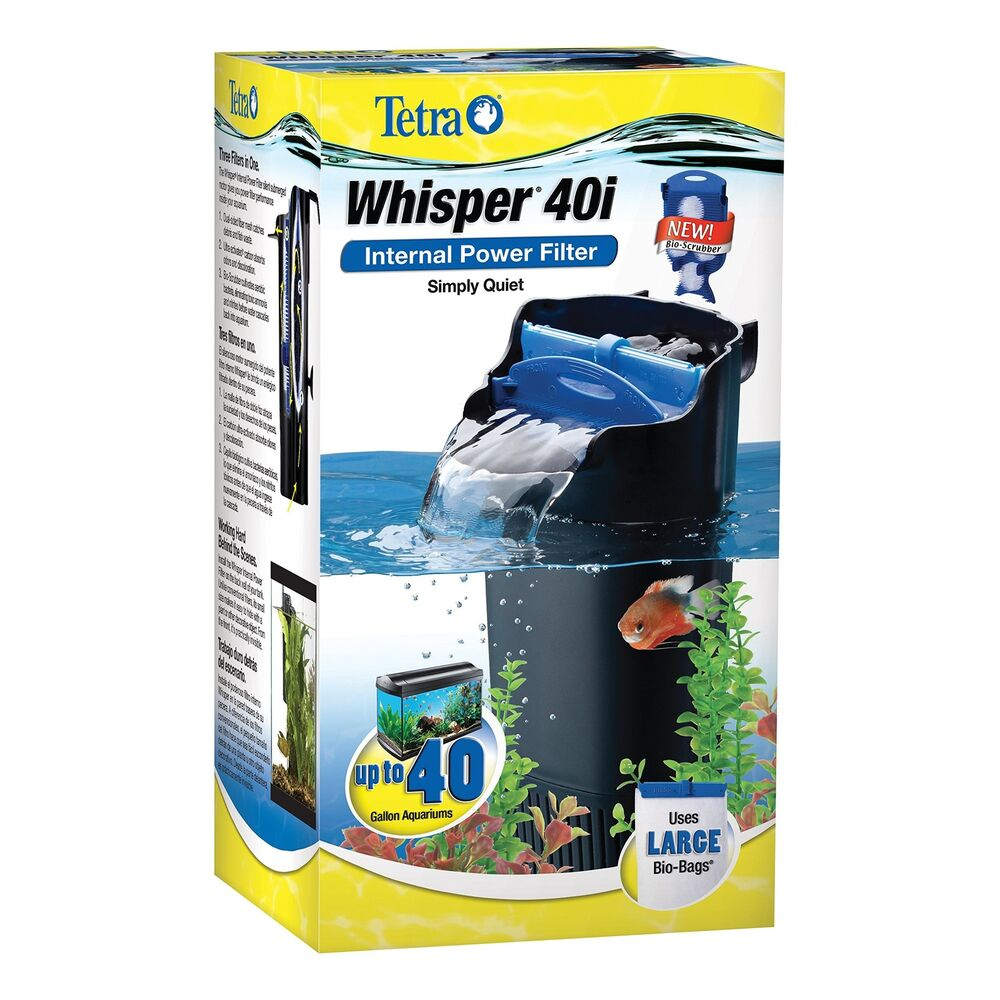 Tetra whisper in tank filter 40i bioscrubber 20 to 40 for Betta fish tank with filter
