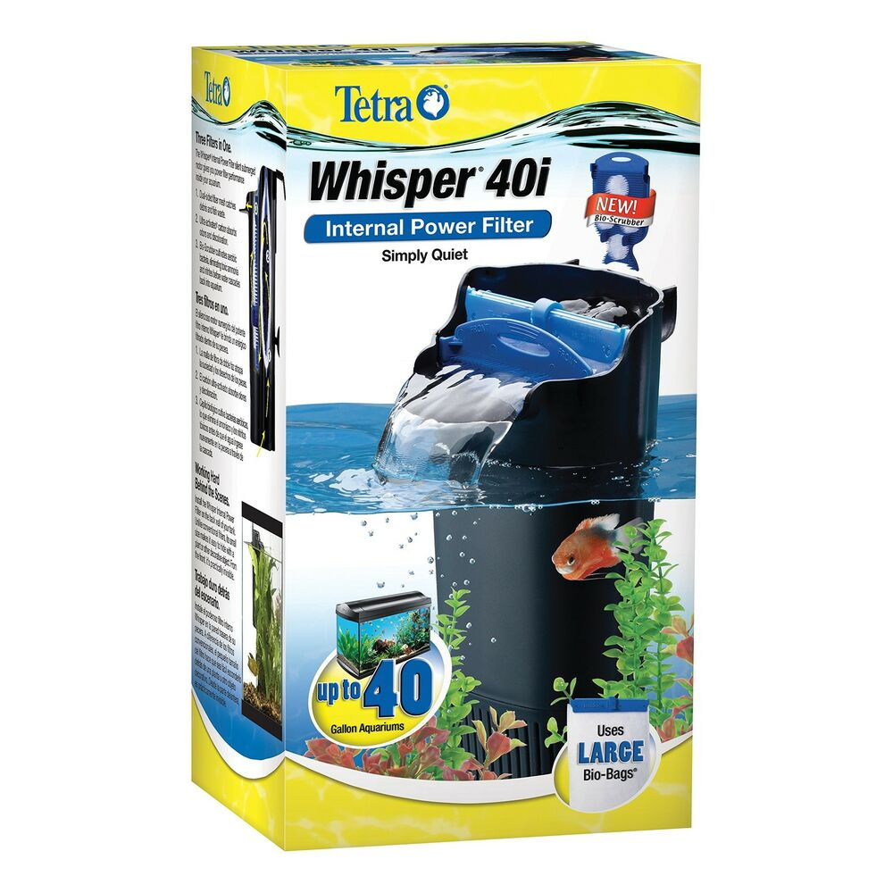 Tetra whisper in tank filter 40i bioscrubber 20 to 40 for Tetra fish tanks
