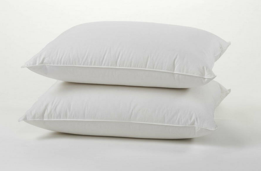 Luxury Duck Feather Down Pillows Pair Soft Comfortable
