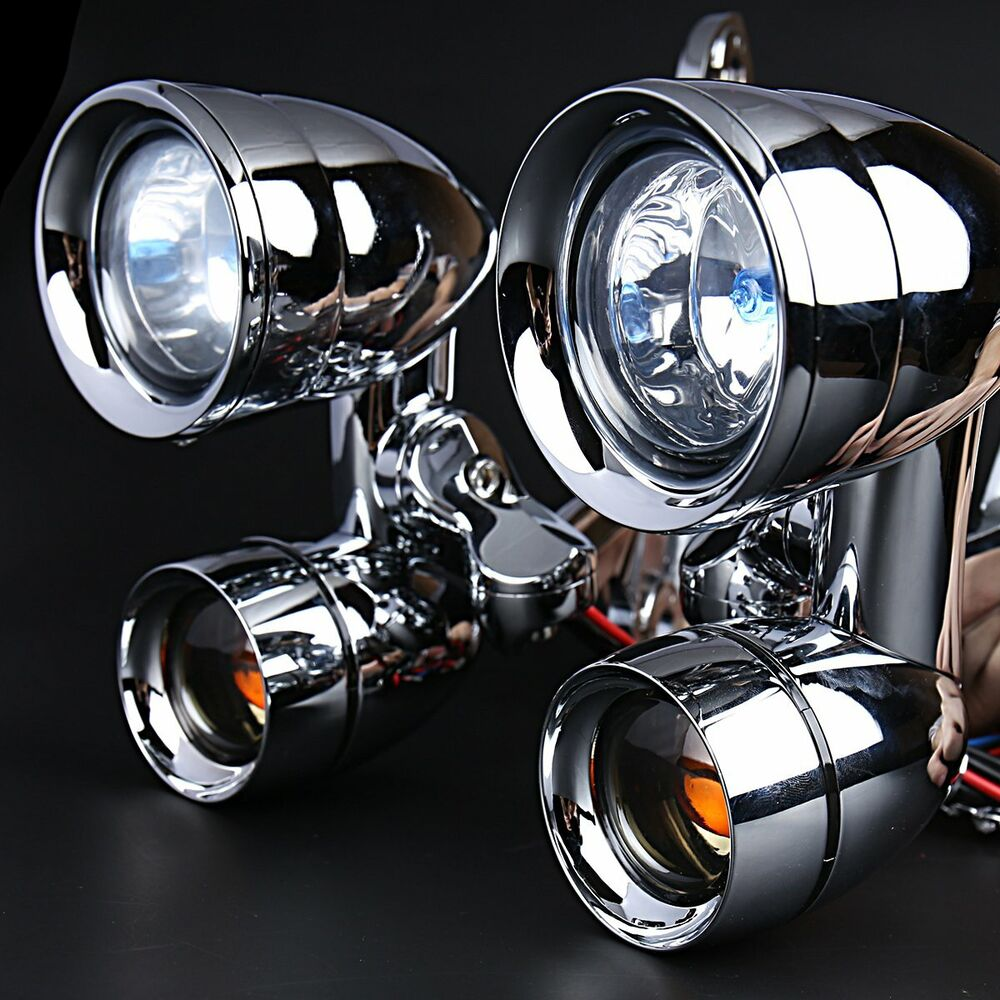 Fairing Mounted Driving Lights Turn Signals Harley Touring