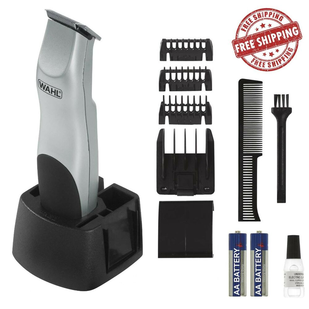 wahl beard trimmer mustache clipper shaver cordless battery hair razor men kit ebay. Black Bedroom Furniture Sets. Home Design Ideas