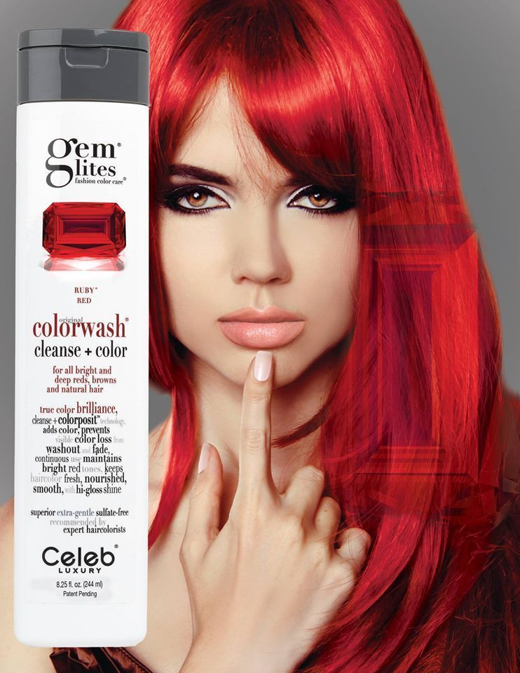 Celeb Luxury Gem Lites Colorwash Cleanse Color Ruby Red 8