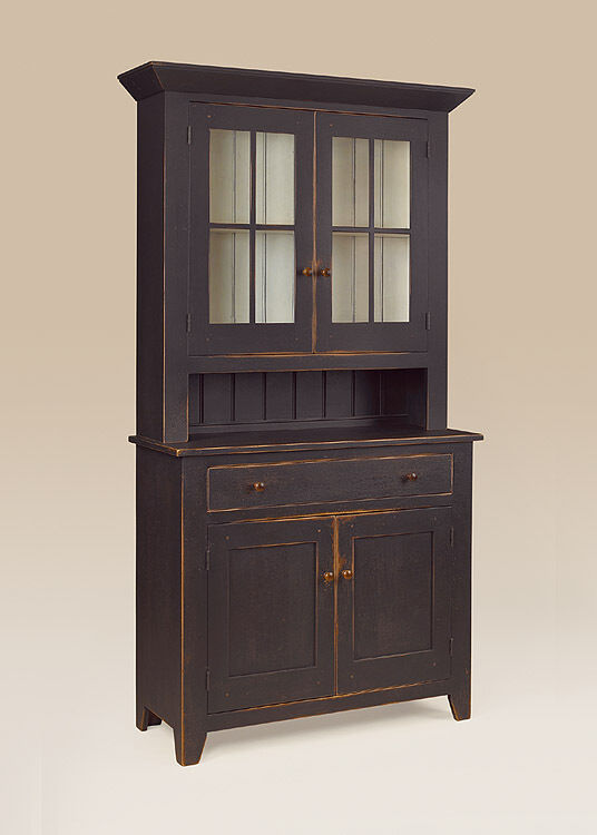Hutch dutch cupboard wood cabinet primitive dining