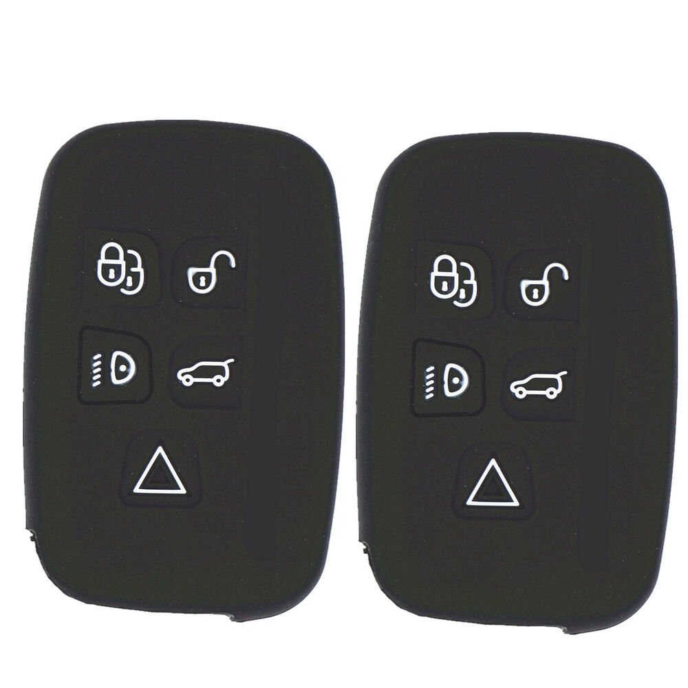 2pc Silicone Key Fob Cover Holder For Land Rover Range