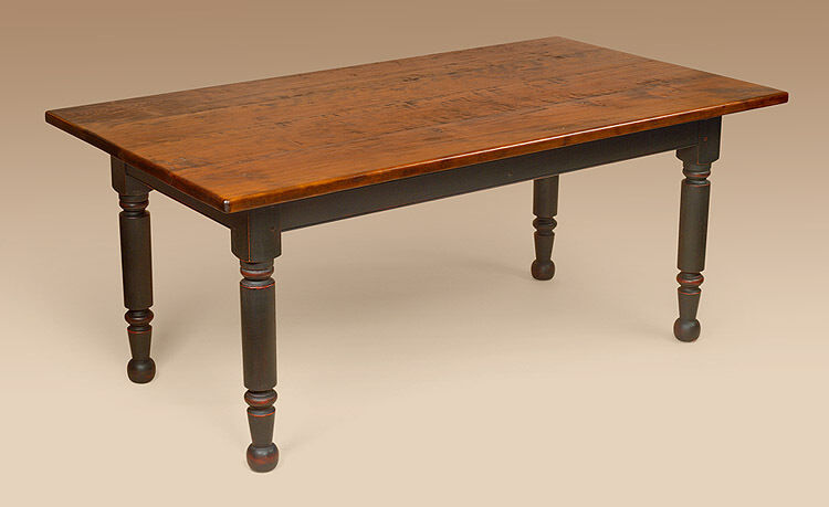 Farm Table Colonial Cherry Wood Dining Farmhouse Table Kitchen Furnitu