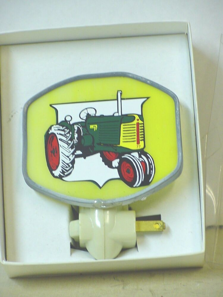 Tractor Door Glass : Oliver tractor stained glass night light ebay