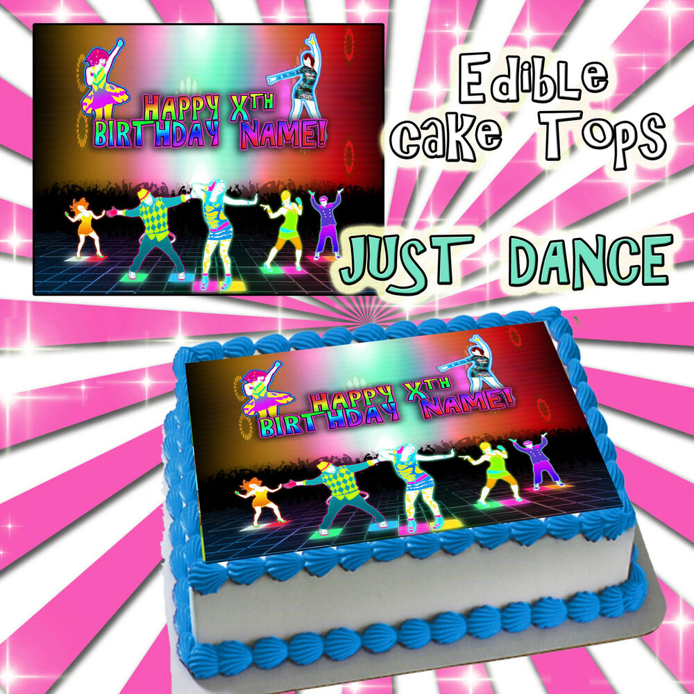 Just Dance Happy Birthday Cake Edible Sugar Topper Sheet