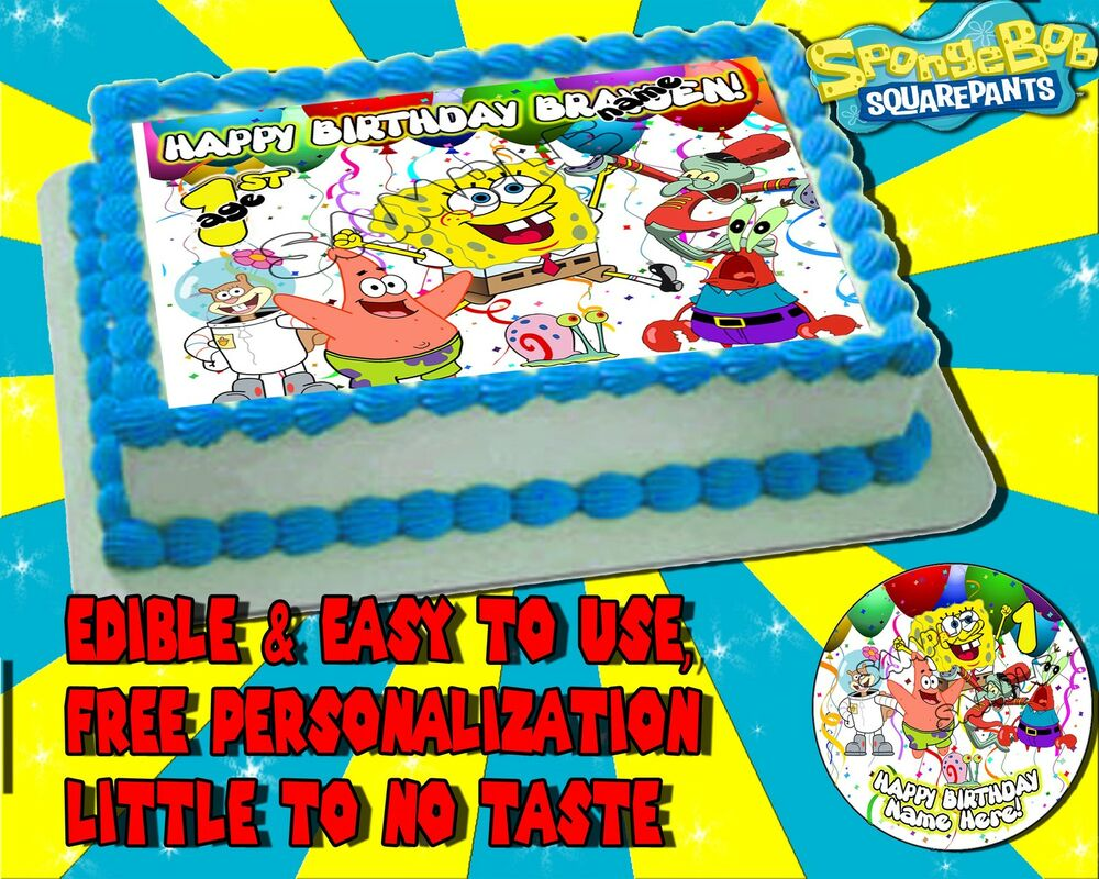 Spongebob Sheet Cake Images