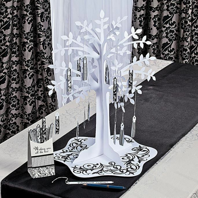 wedding decorations trees black amp white wishing tree centerpiece weddings reception 9159