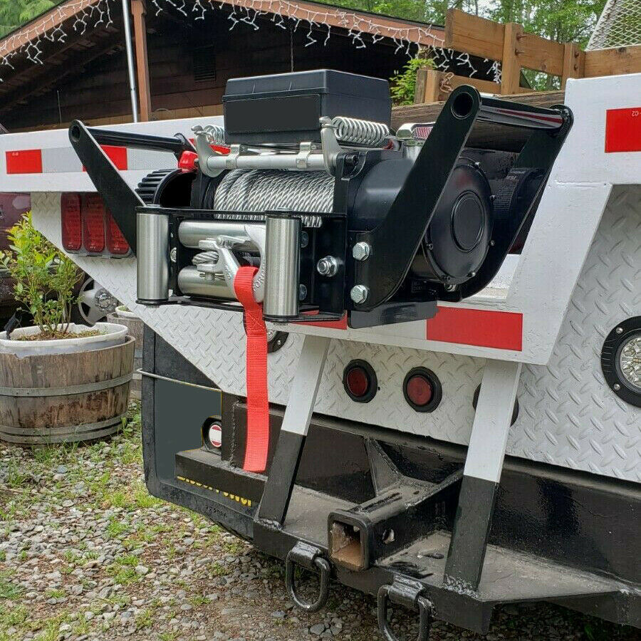 Foldable Winch Mounting Plate Cradle Mount For 2 Hitch