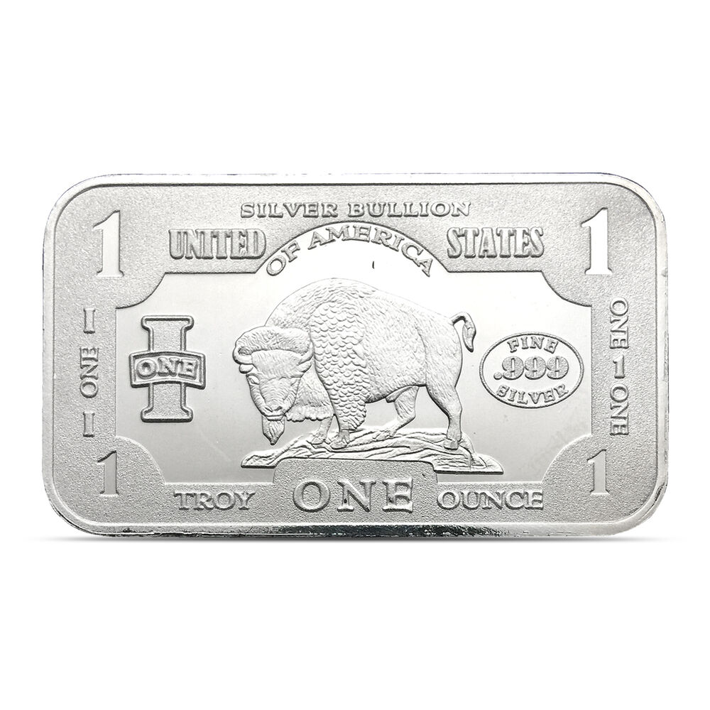 United States One Silver Bullion Buffalo Bison 1 Troy Oz