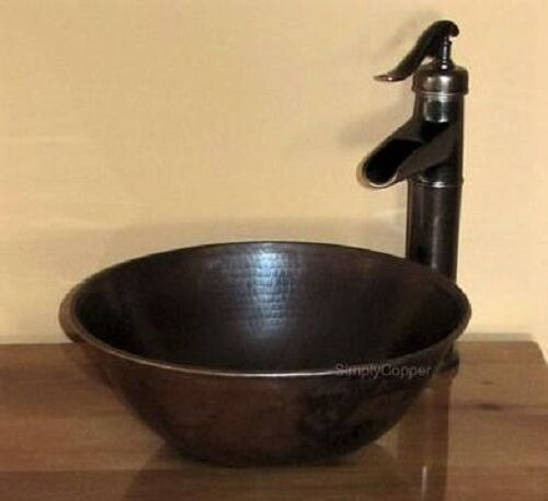bathroom countertop for vessel sink 14 quot copper vessel countertop vanity bowl sink with 22054