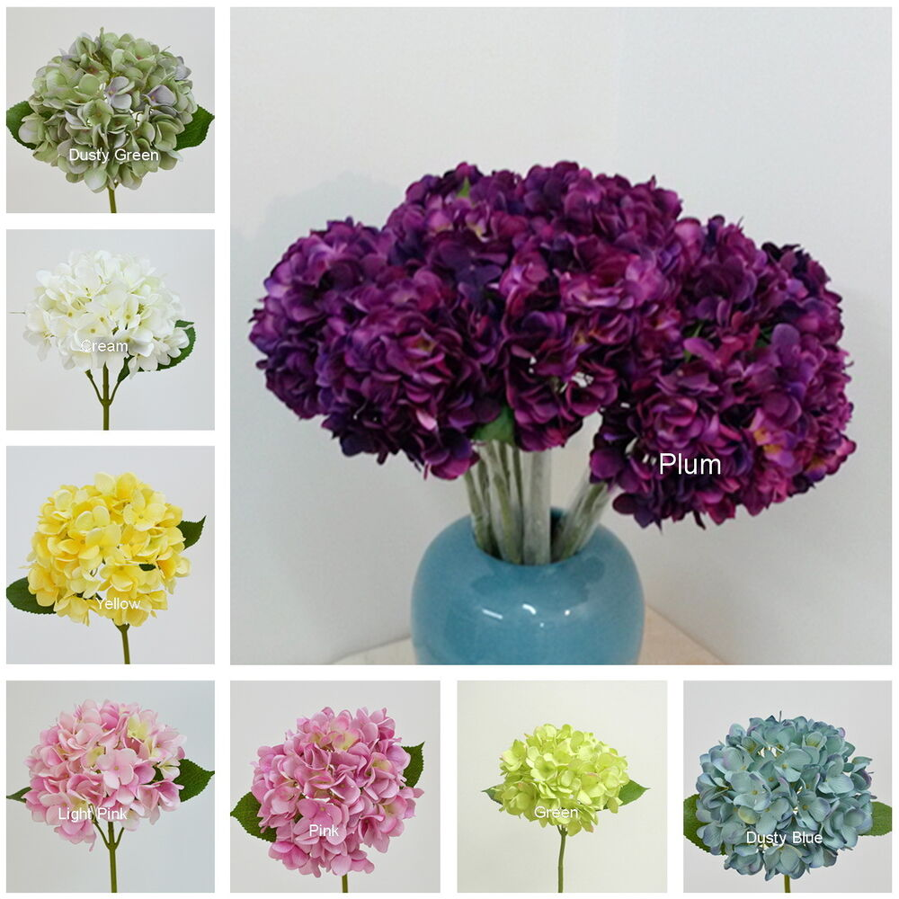 artificial flowers for wedding 10pcs fall wedding flowers silk hydrangea for table 1377