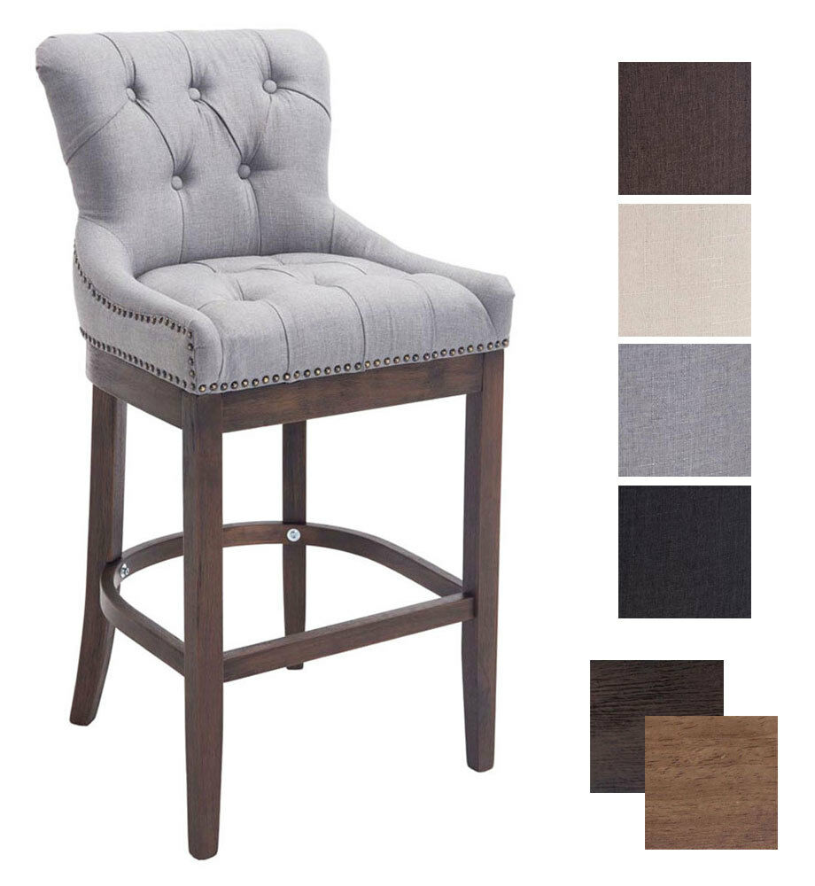 Elegant Bar Stool Buckingham Tweed Breakfast Kitchen Vintage Armchair Chair Pub Ebay