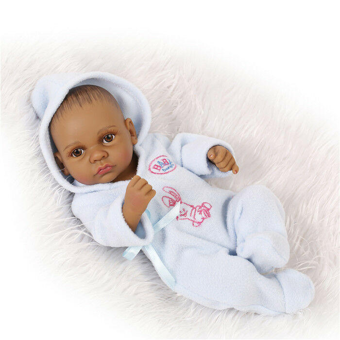 African American Baby Doll Black Boy Full Silicone Body