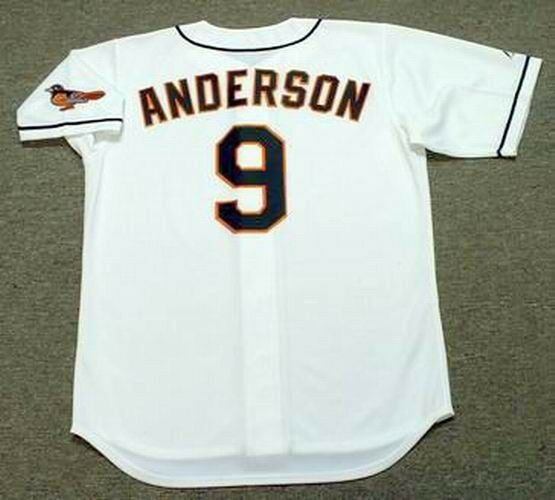 db45f7bfb BRADY ANDERSON Baltimore Orioles 1996 Majestic Throwback Home Baseball  Jersey