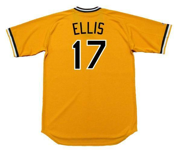46efdcb32 DOCK ELLIS Pittsburgh Pirates 1970 s Majestic Cooperstown Home Baseball  Jersey