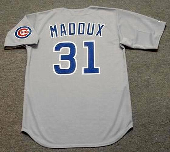 99acdd1e514 GREG MADDUX Chicago Cubs 1990 Majestic Cooperstown Away Baseball Jersey