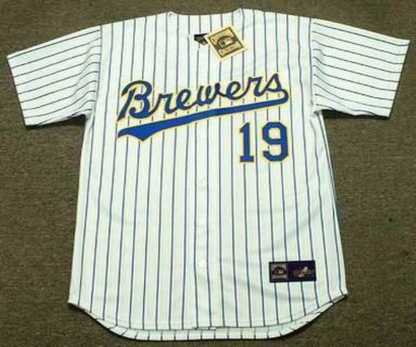 bd0e3ccaaee ROBIN YOUNT Milwaukee Brewers 1993 Majestic Cooperstown Home Baseball Jersey