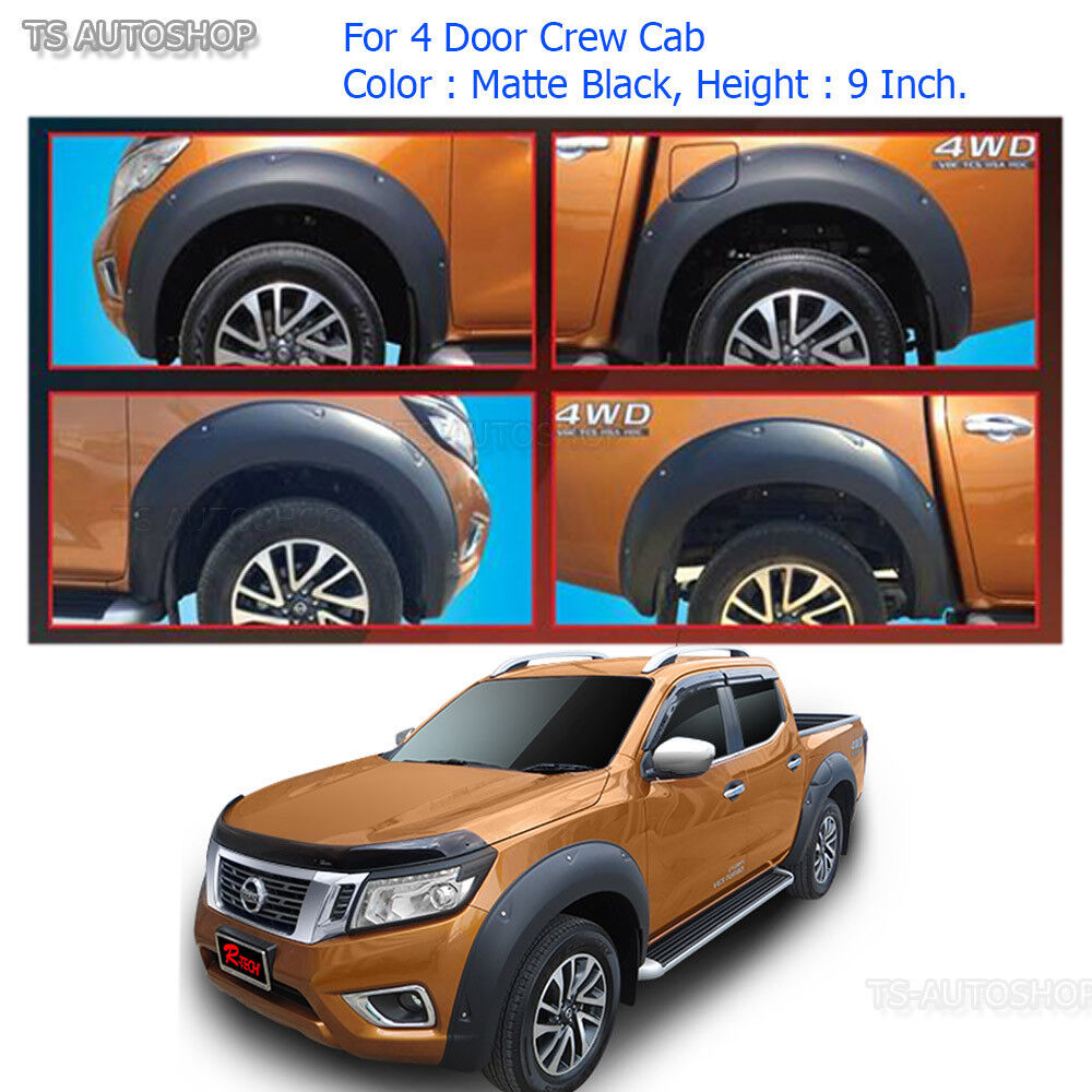 """2014 Nissan Frontier Accessories >> Off-Road Fender Flares Wheel Arch 9"""" Black For Nissan ..."""